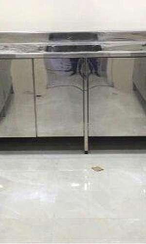 Armário de aço inox para cozinha industrial