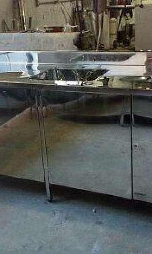 Armário de cozinha de inox