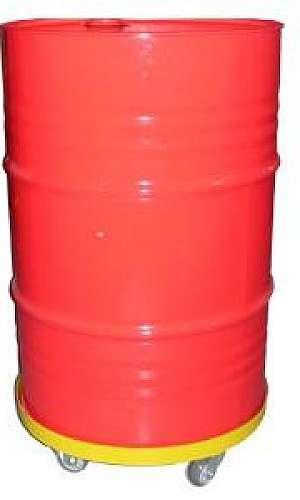 Base com rodízios para tambor de 200L