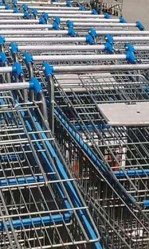 Carrinho de compras usado
