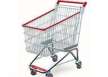 Carrinho de supermercado sem porta baby