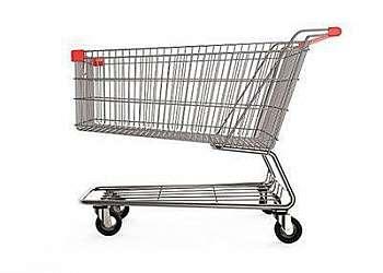Carrinho de supermercado de plástico