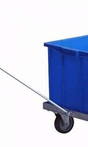 Carrinho para caixa plástica