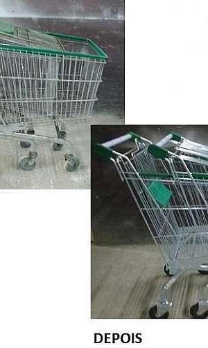 Conserto de carrinho de supermercado
