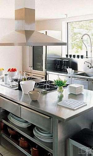 Pia de aço inox para cozinha industrial