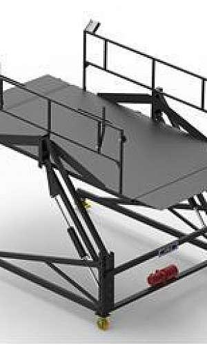 Plataforma de elevação de carga