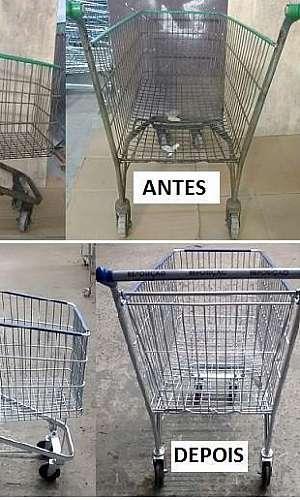 Reforma de carrinhos de supermercado sp