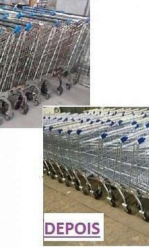 Reforma de carrinhos para supermercado